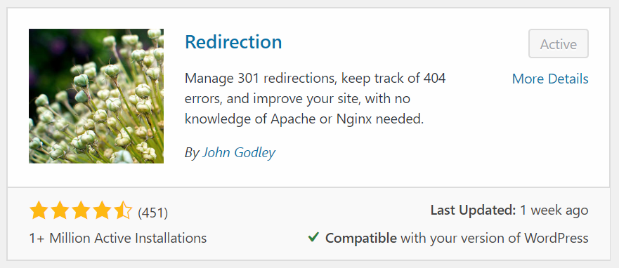 Redirection Plugin