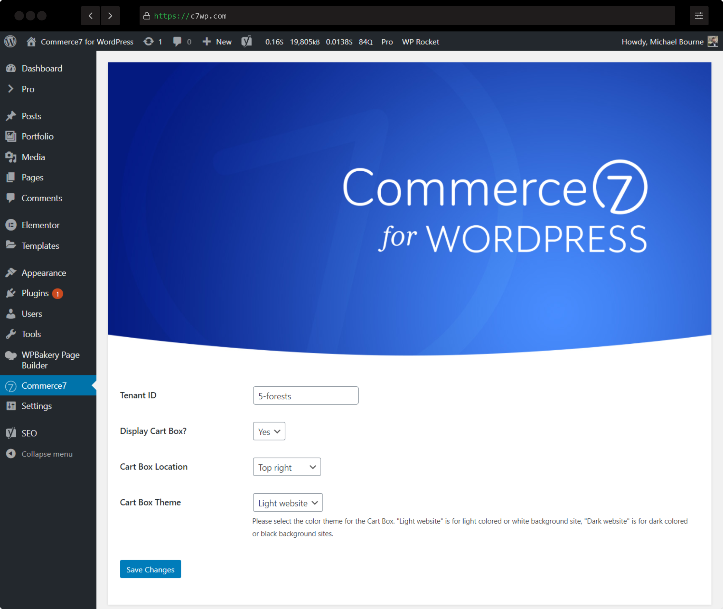 Commerce7 for WordPress Admin View